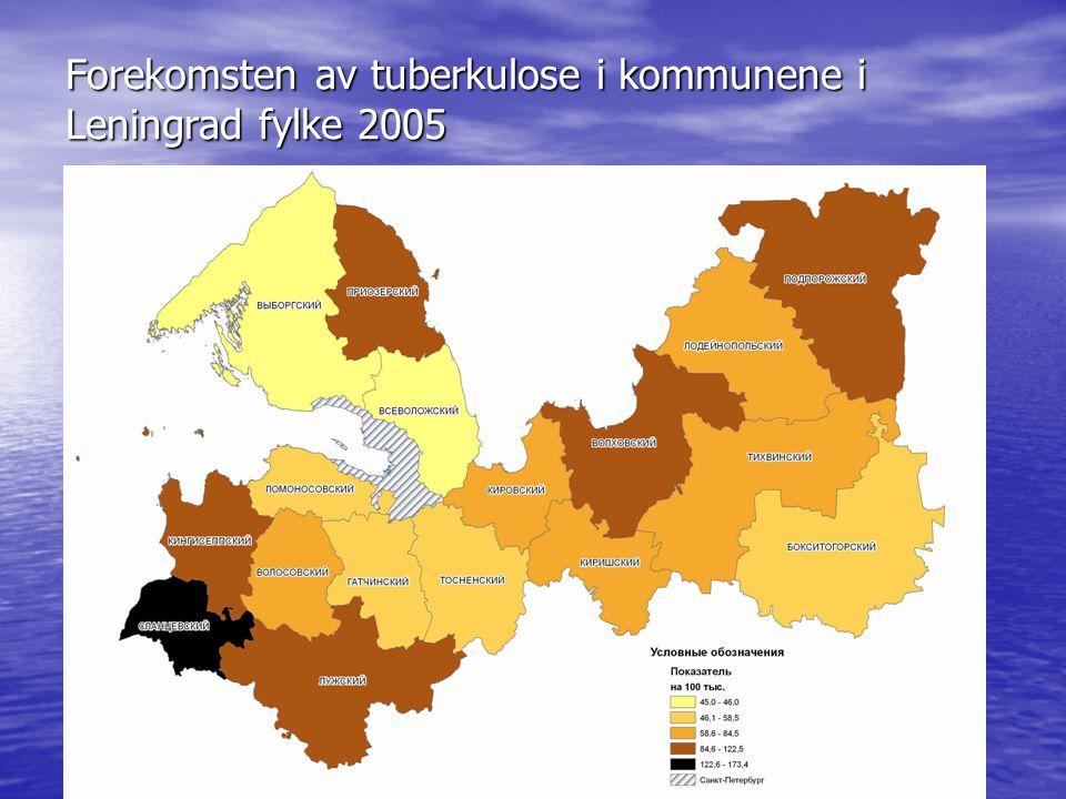 Forekomsten av tuberkulose i kommunene i Leningrad fylke 2005