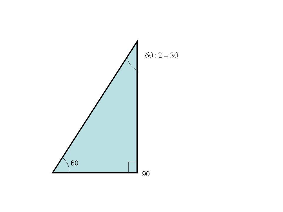 I utgangspunktet hadde vi en likesidet trekant, alle sidene var like lange.