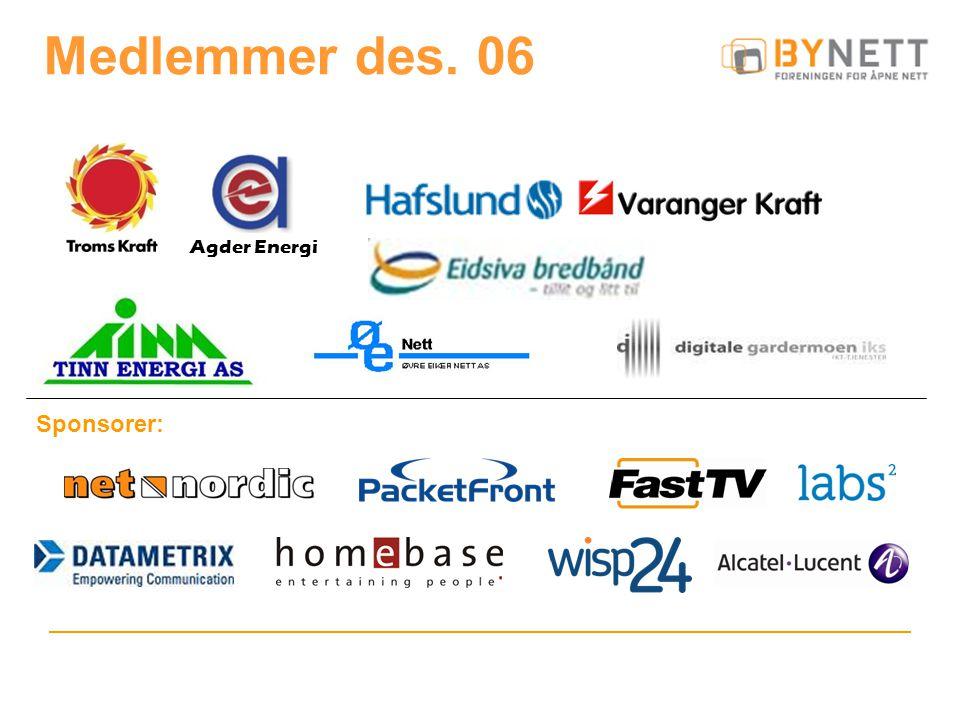 Medlemmer des. 06 Sponsorer: Agder Energi