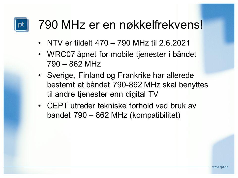 790 MHz er en nøkkelfrekvens.