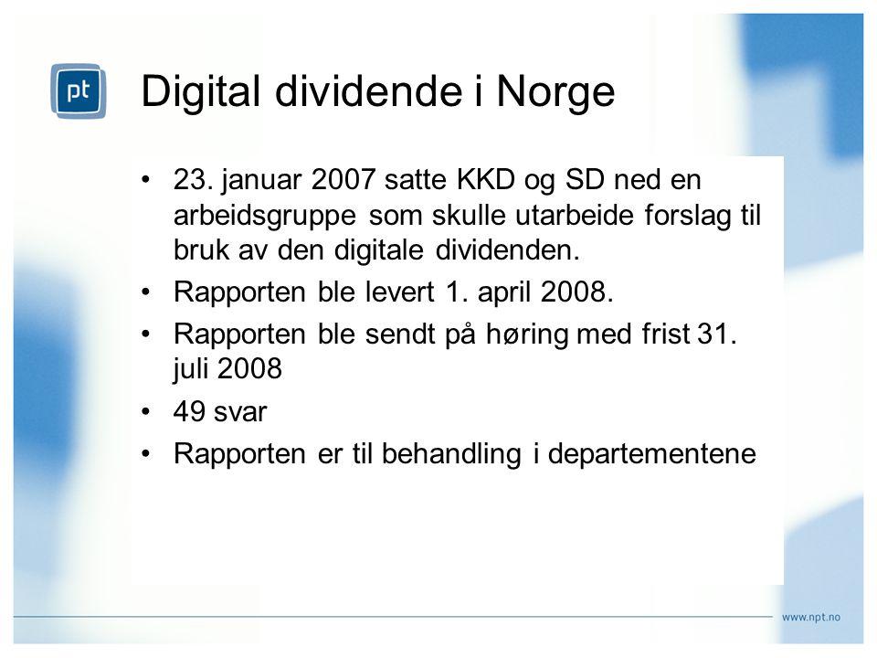 Digital dividende i Norge 23.