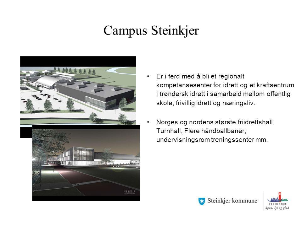 Campus Steinkjer Er i ferd med å bli et regionalt kompetansesenter for idrett og et kraftsentrum i trøndersk idrett i samarbeid mellom offentlig skole