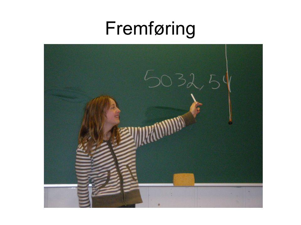 Lærers og elevens vurdering Etter fremføring: Elevene syntes selv de kunne bruke det matematisk språket.