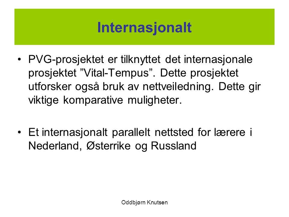 """Oddbjørn Knutsen Internasjonalt PVG-prosjektet er tilknyttet det internasjonale prosjektet """"Vital-Tempus"""". Dette prosjektet utforsker også bruk av net"""