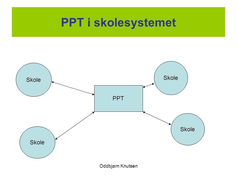 Oddbjørn Knutsen PPT i skolesystemet PPT Skole