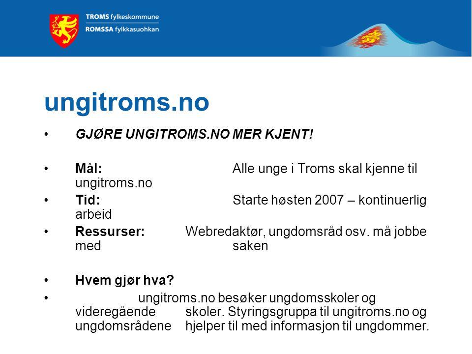 ungitroms.no GJØRE UNGITROMS.NO MER KJENT.