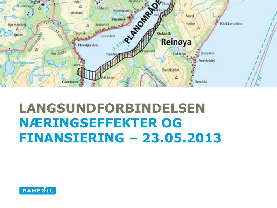 LANGSUNDFORBINDELSEN NÆRINGSEFFEKTER OG FINANSIERING – 23.05.2013 Alternative title slide