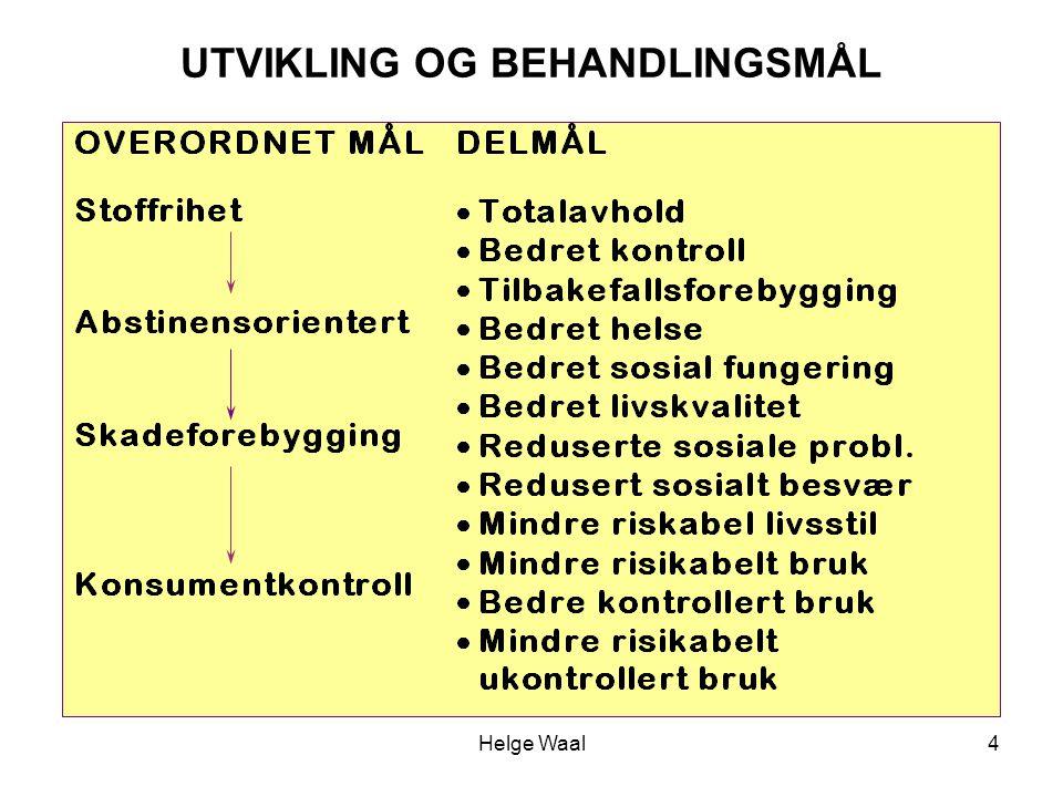 Helge Waal4 UTVIKLING OG BEHANDLINGSMÅL