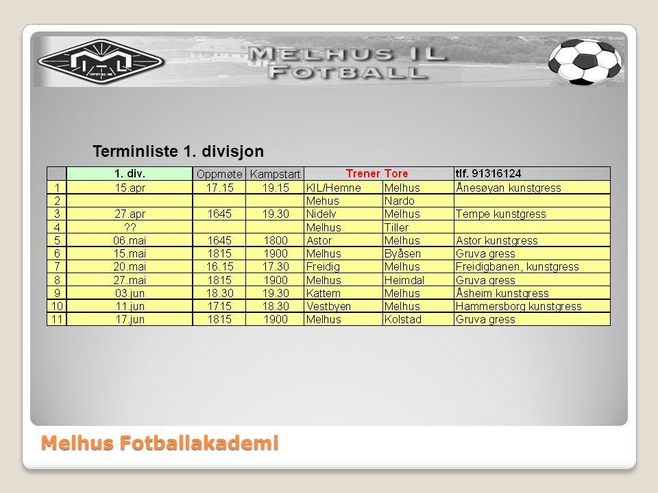 Melhus Fotballakademi Sportslig organisering aldersbestemt ORGANISERING: