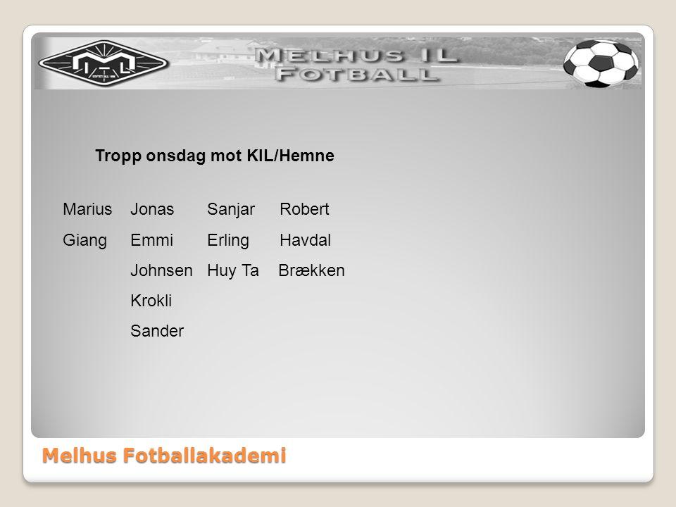 Melhus Fotballakademi Terminliste 3. divisjon