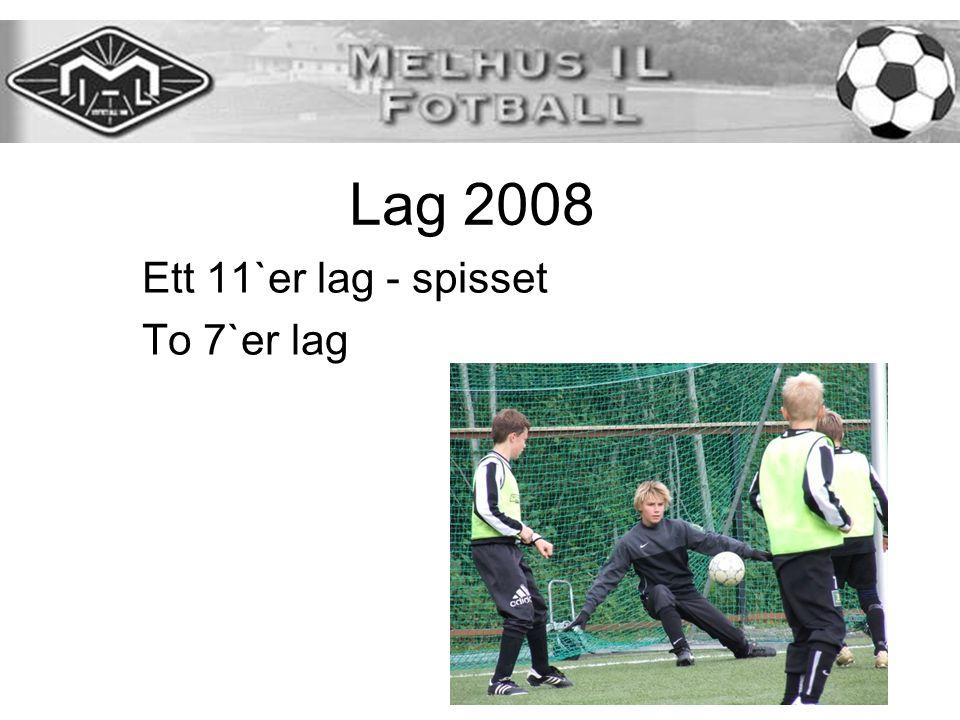 Lag 2008 Ett 11`er lag - spisset To 7`er lag