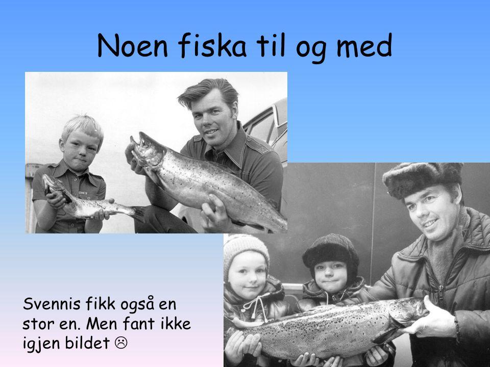 Noen fiska til og med Svennis fikk også en stor en. Men fant ikke igjen bildet 