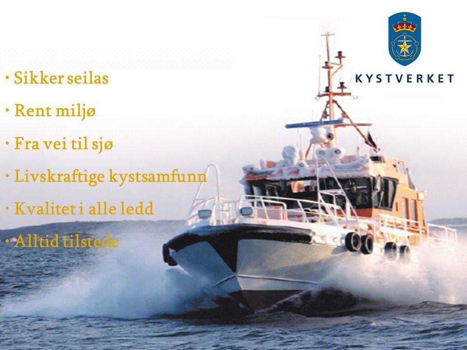 Sikker seilas Rent miljø Fra vei til sjø Livskraftige kystsamfunn Kvalitet i alle ledd Alltid tilstede