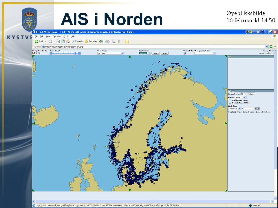 Øyeblikksbilde 16.februar kl 14.50 AIS i Norden