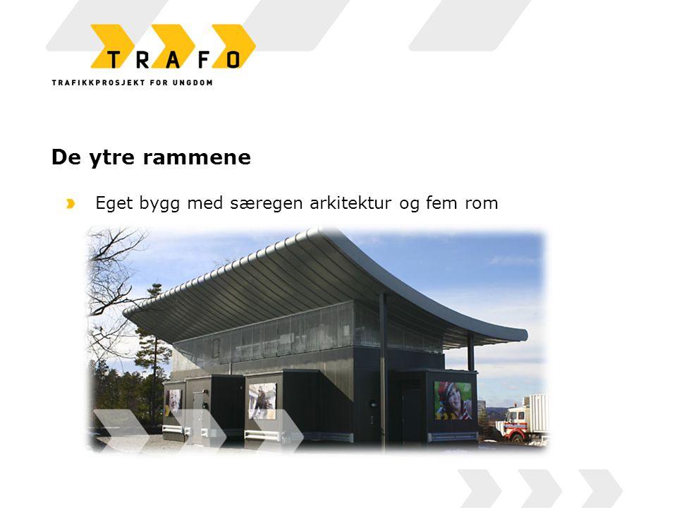 De ytre rammene Eget bygg med særegen arkitektur og fem rom