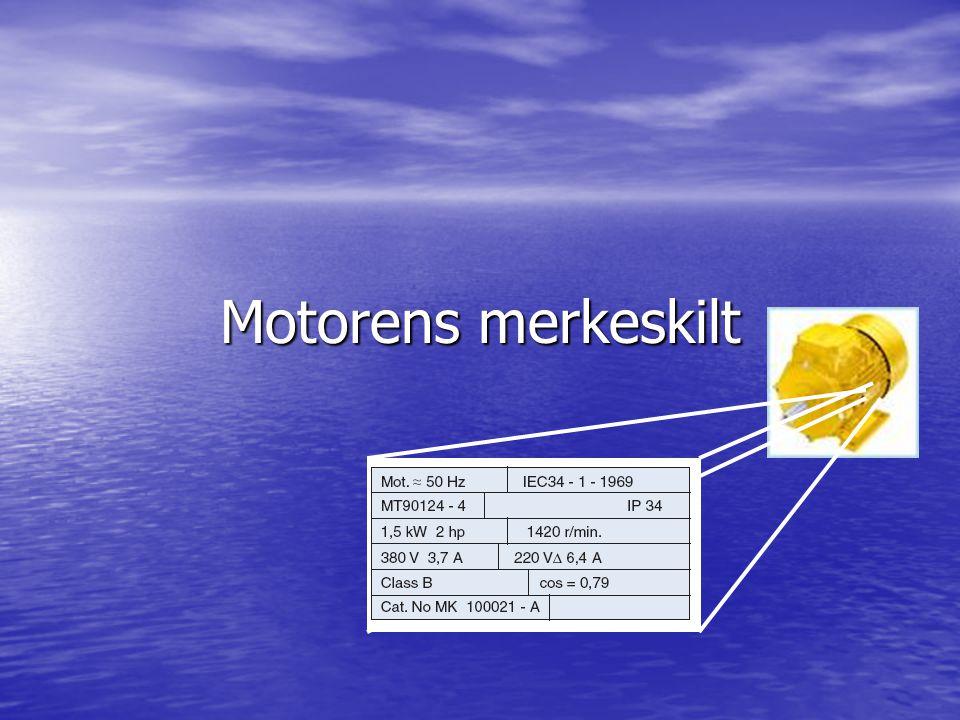 Motorens merkeskilt