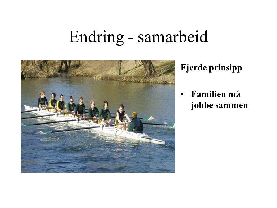 Endring - samarbeid Fjerde prinsipp Familien må jobbe sammen