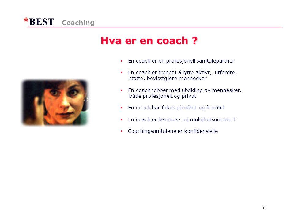 * BEST 13 Hva er en coach .