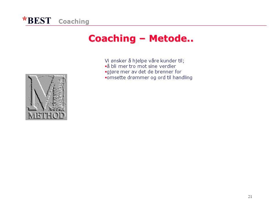 * BEST 21 Coaching – Metode..