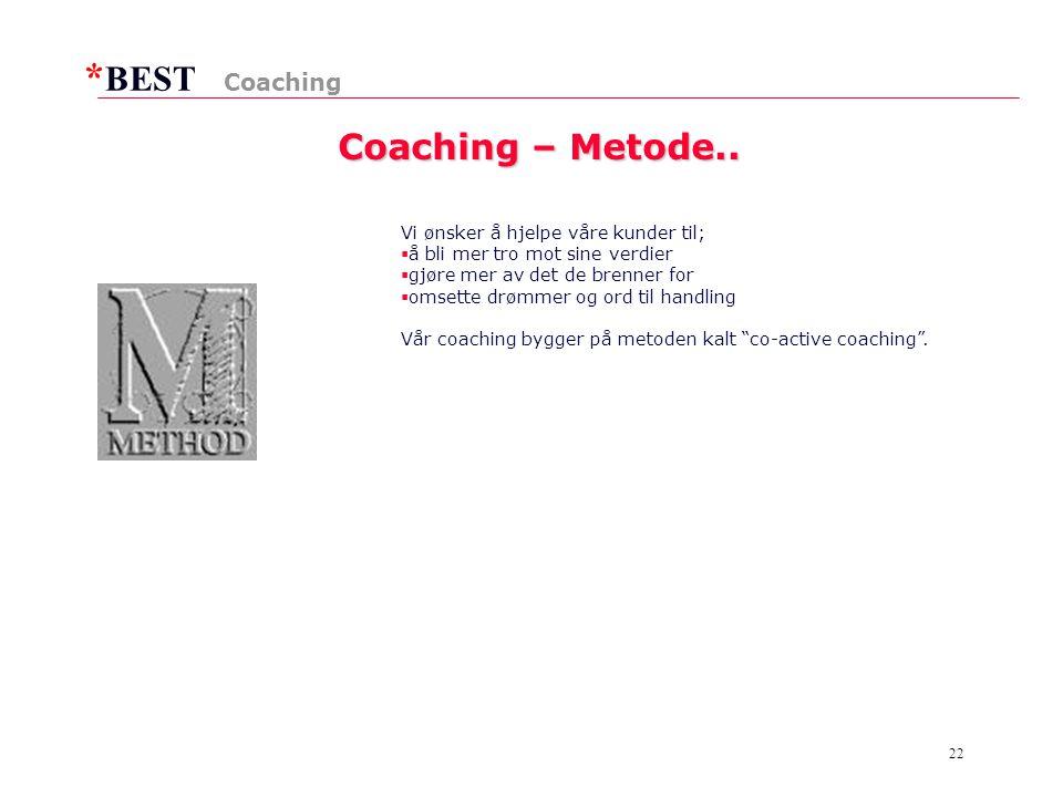 * BEST 22 Coaching – Metode..