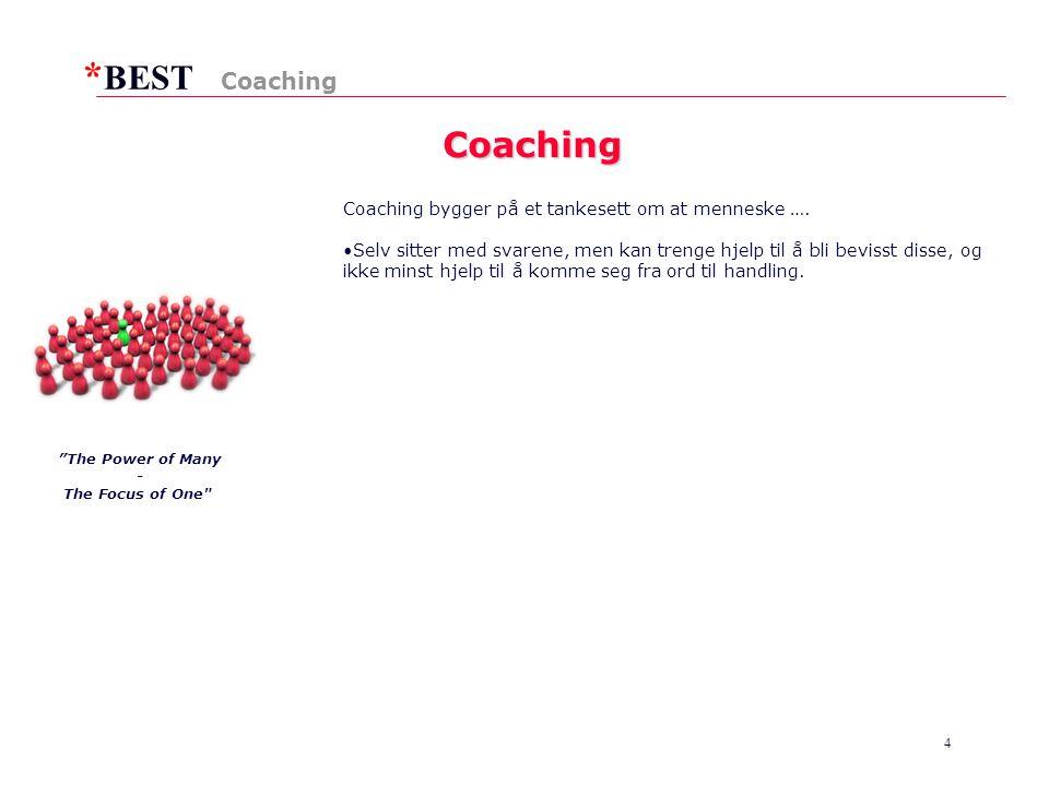 * BEST 4 Coaching Coaching Coaching bygger på et tankesett om at menneske ….