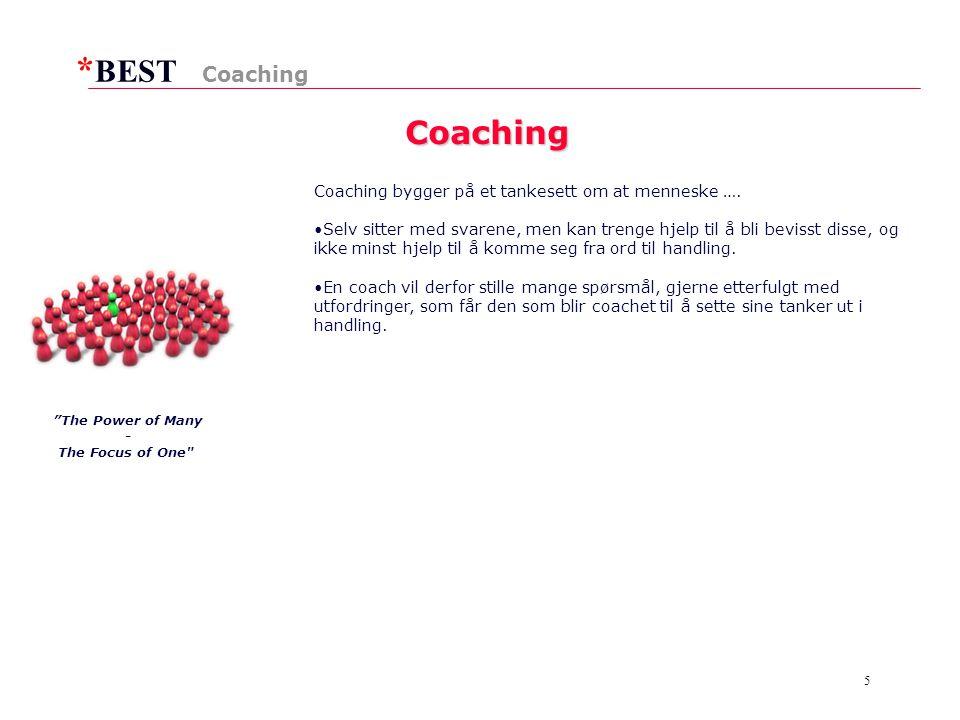 * BEST 5 Coaching Coaching Coaching bygger på et tankesett om at menneske ….