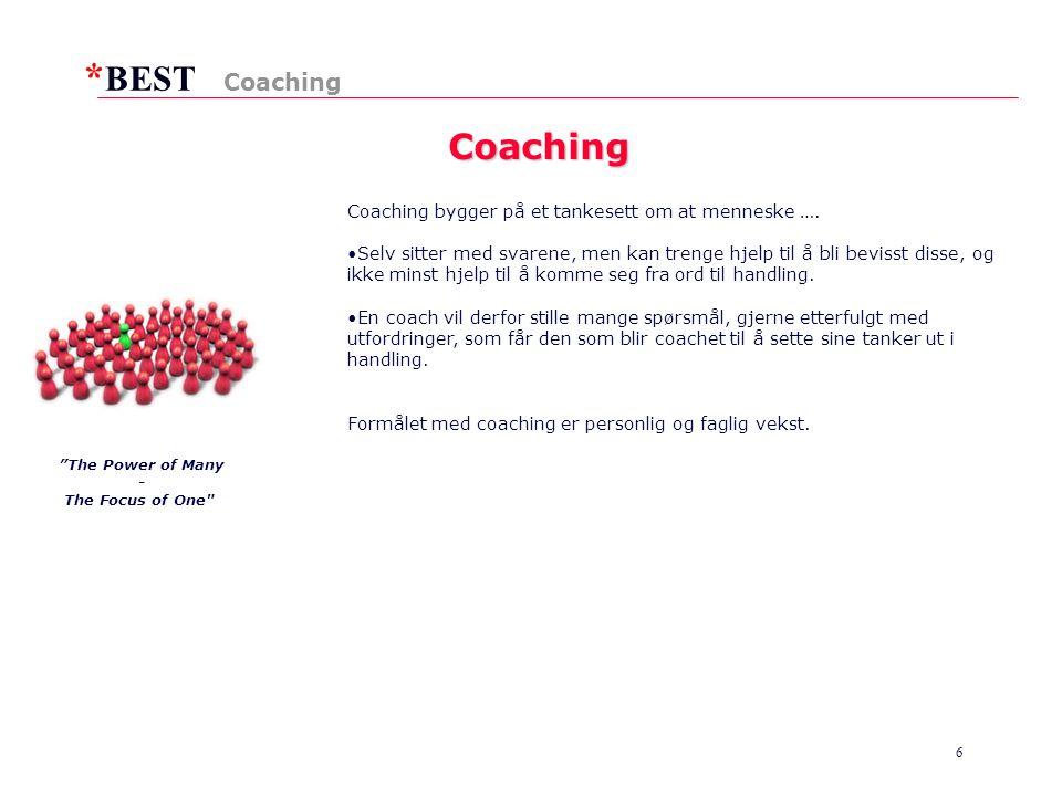 * BEST 6 Coaching Coaching Coaching bygger på et tankesett om at menneske ….