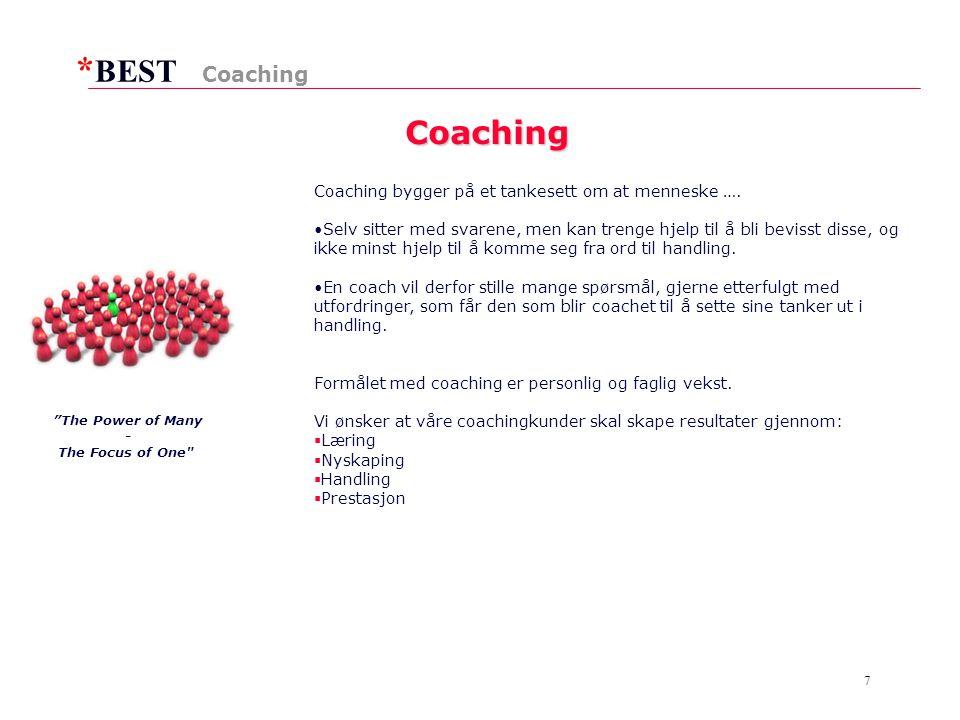 * BEST 7 Coaching Coaching Coaching bygger på et tankesett om at menneske ….