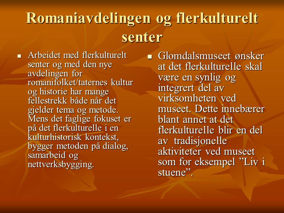 Romanifolket/taterne og Glomdalsmuseet Glomdalsmuseet startet arbeidet med å etablere en avdeling for taternes/romanifolkets kultur og historie allerede i 1997, da en av museets eiere, Våler kommune i Solør, kom med en henvendelse til museet.