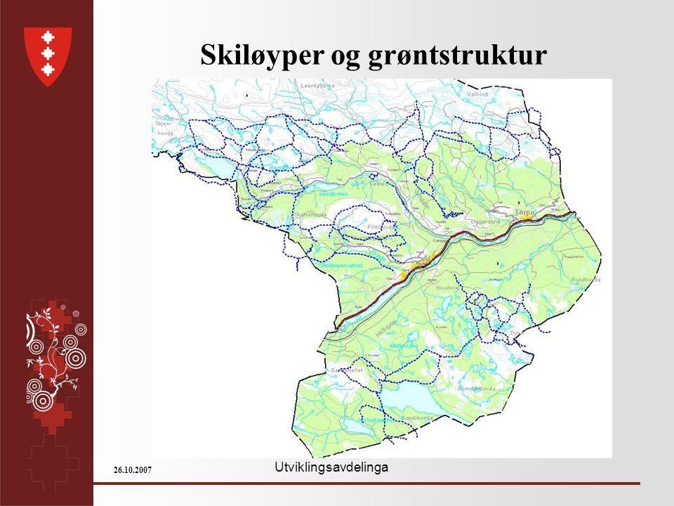 Utviklingsavdelinga 26.10.2007 Skiløyper og grøntstruktur