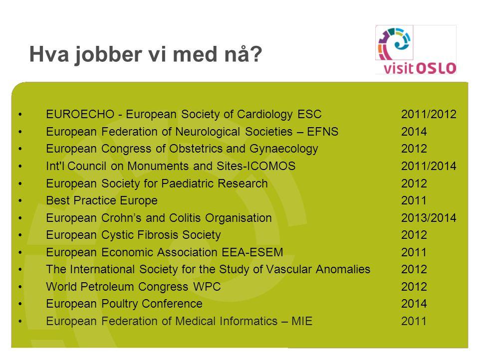 Hva jobber vi med nå? EUROECHO - European Society of Cardiology ESC2011/2012 European Federation of Neurological Societies – EFNS2014 European Congres