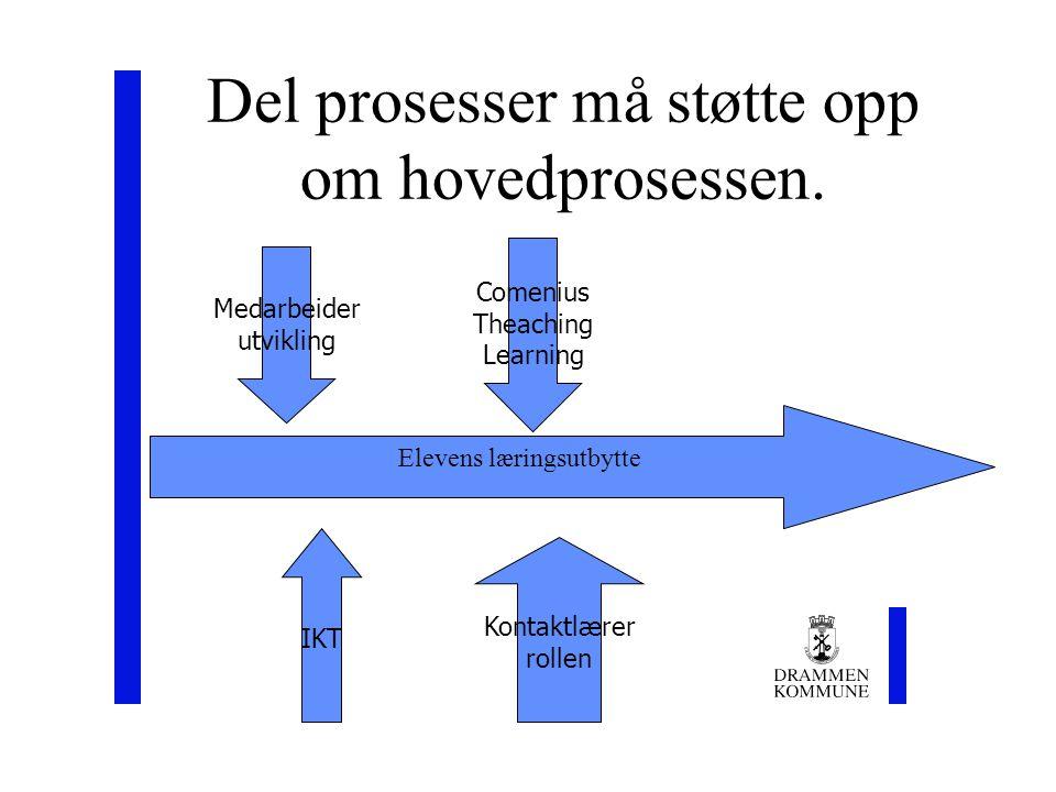 Del prosesser må støtte opp om hovedprosessen.