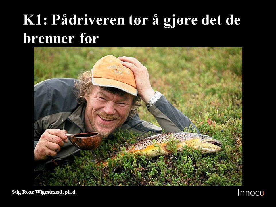 Stig Roar Wigestrand, ph.d. K1: Pådriveren tør å gjøre det de brenner for M 7