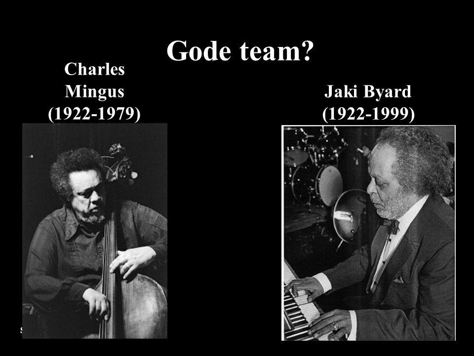 Stig Roar Wigestrand, ph.d. Charles Mingus (1922-1979) Jaki Byard (1922-1999) Gode team?