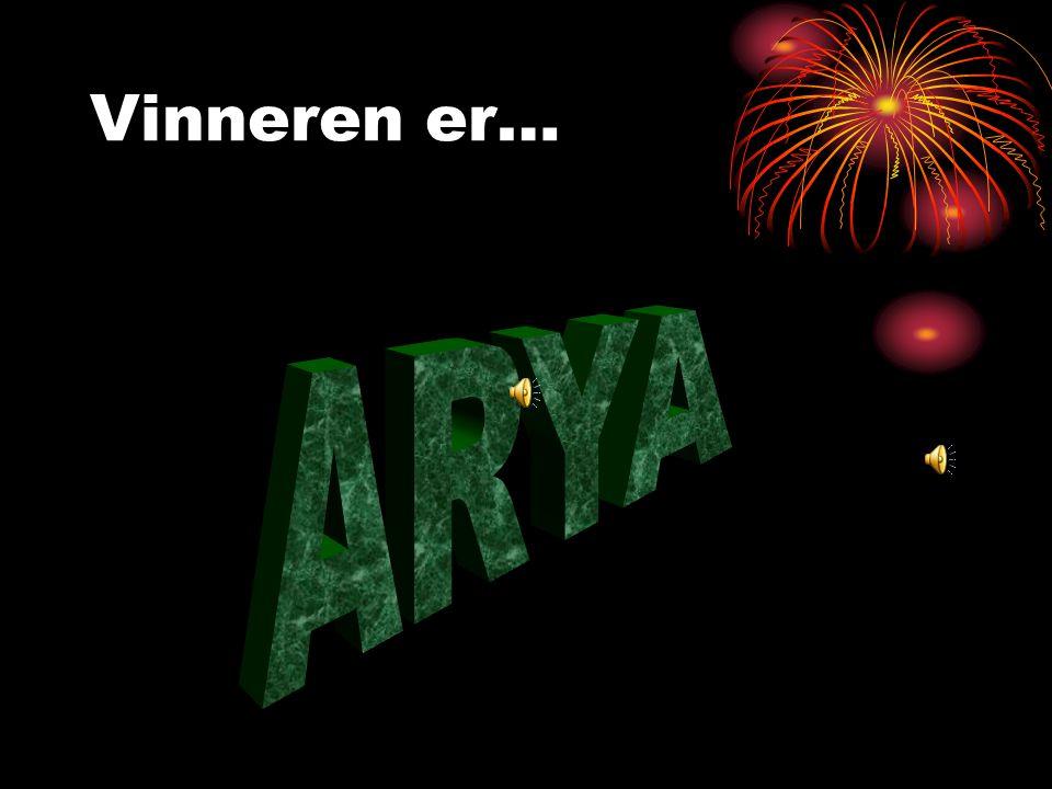 Årets mest nominerte Arya