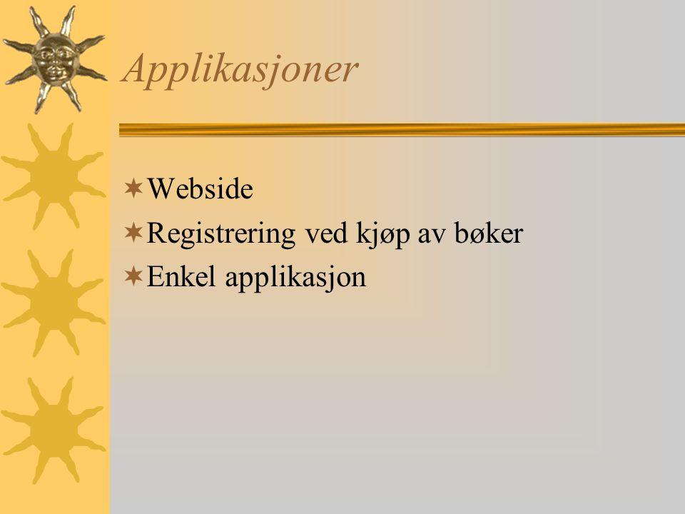 Formål og brukerbehov  On-line bokhandel for norske forbrukere  Bøker i forskjellige sjangre og språk  Bred kundegruppe  Kunde skal ha tilgang på