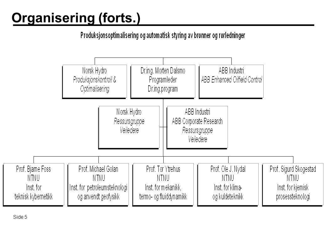 Side 6 Finansiering ABB og Norsk Hydro fullfinansierer sine spesifikke deler av totalprosjektet ABB vil i tillegg kjøpe inn FoU-tjenester fra blant annet NTNU og Universitet i Tulsa (jmf.