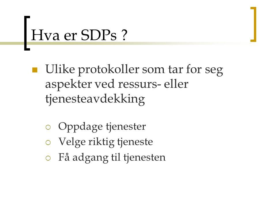Hva er SDPs .