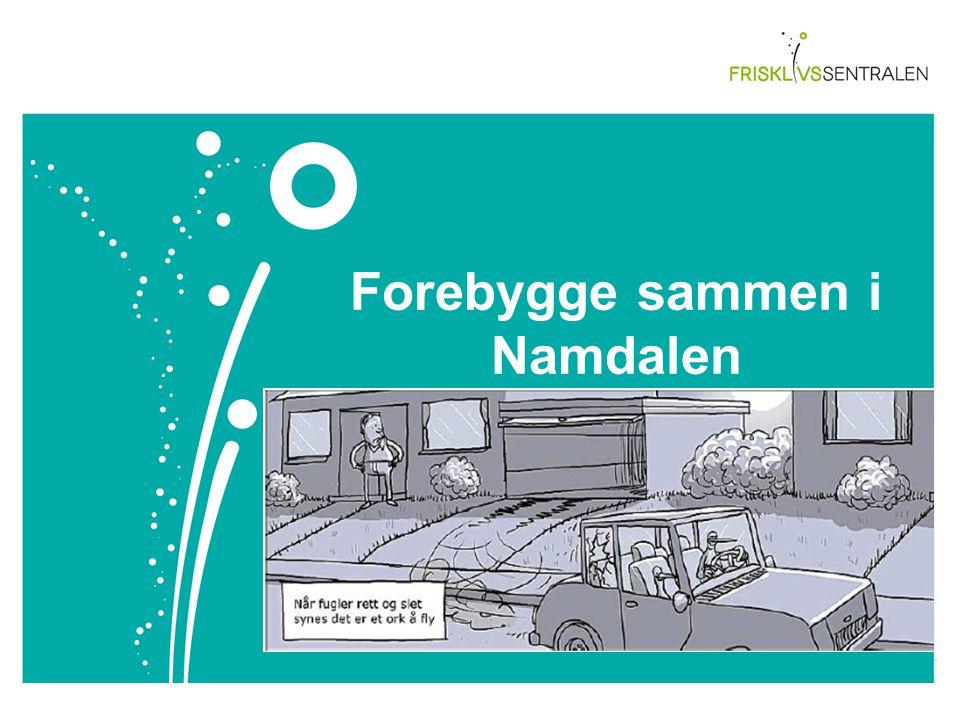 Forebygge sammen i Namdalen Overskrift Arial 28 Sett inn tekst og dato her