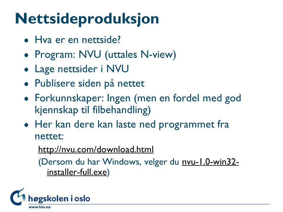 Nettsideproduksjon l Hva er en nettside.