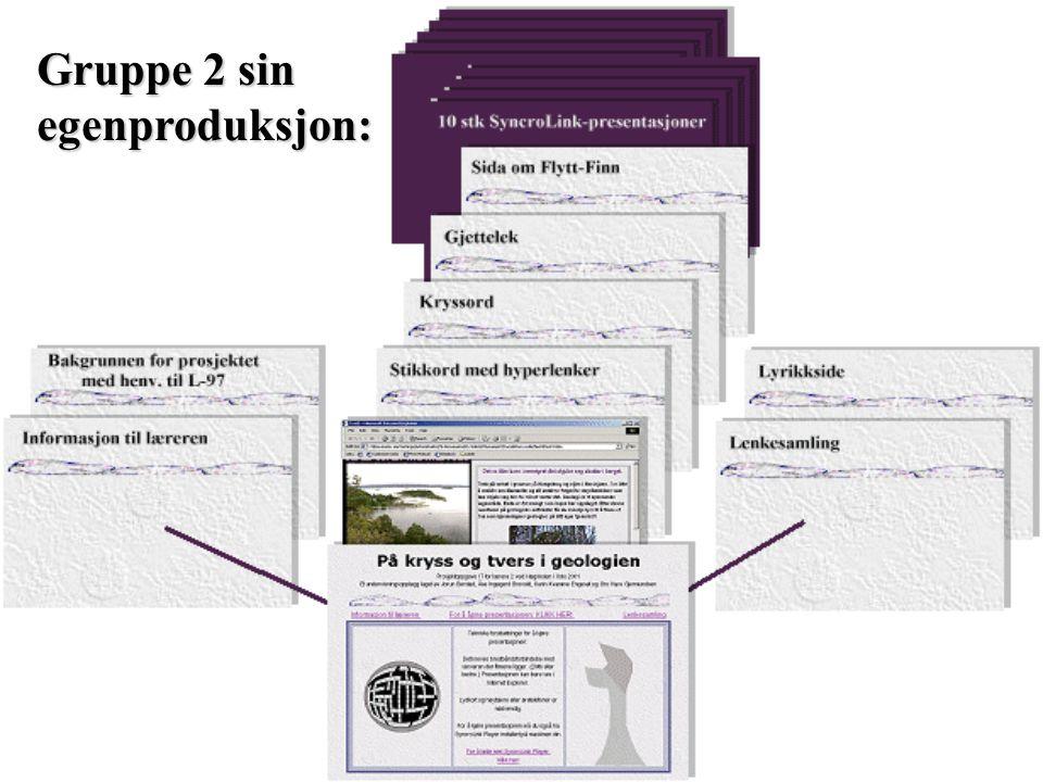 Erfaringer: Filmen i en SyncroLink-presentasjon kan ikke byttes uten videre.