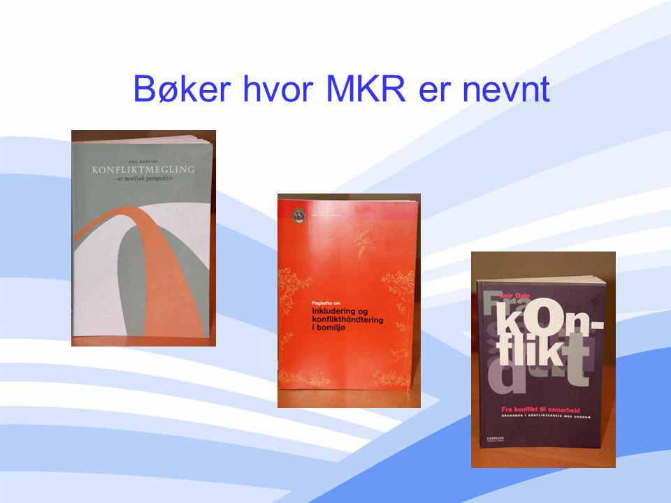 Bøker hvor MKR er nevnt