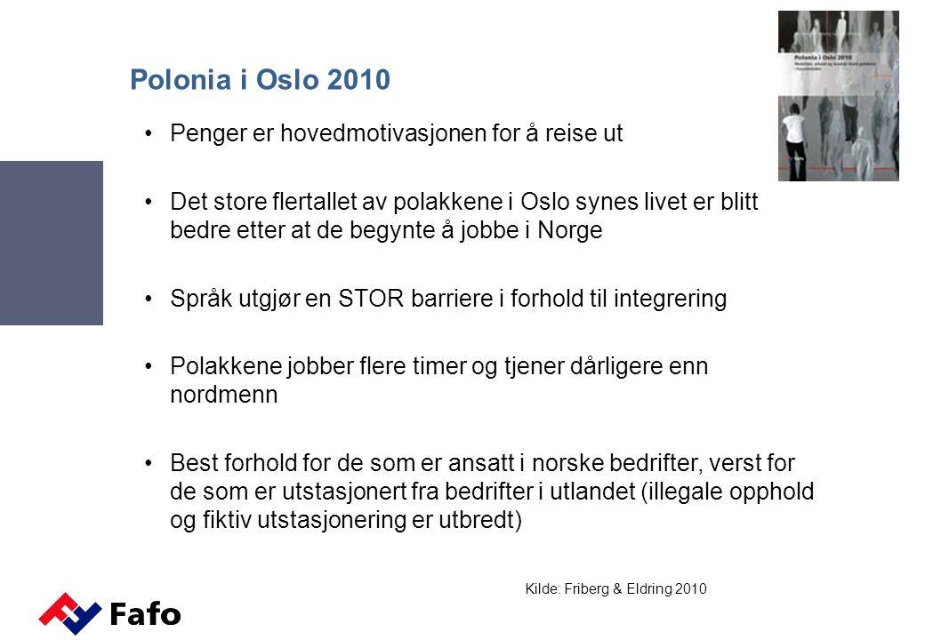 Minstelønnsregulering på norsk Det finnes ingen generell minstelønnsgrense i Norge Tilstrømningen av billig arbeidskraft har forsterket av forskjeller som allerede finnes mellom bedrifter/ansatte som er tariffbundne og bedrifter/ansatte som ikke er det –I privat sektor er kun 55 prosent av de ansatte omfattet av tariffavtale Debatten Norge aldri har tatt om virkninger av lav tariffavtaledekning dukker nå opp som en debatt om sosial dumping Svakheter ved den norske arbeidslivsmodellen har blitt tydeliggjort i kjølvannet av EU-utvidelsen Etter 2004: Norge har for første gang fått minstelønn gjennom allmenngjorte tariffavtaler