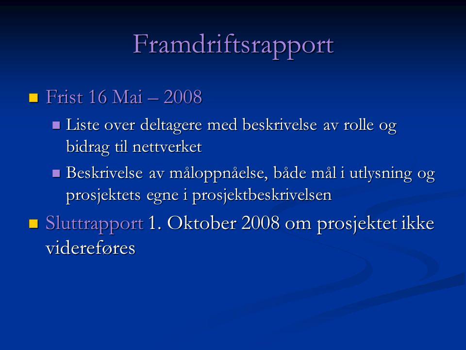 Aktiviteter Kick-off (10.oktober, 09:00 – 17:00) Kick-off (10.oktober, 09:00 – 17:00) Obligatorisk presentasjon fra partnere Obligatorisk presentasjon fra partnere (invitere aktuelle nye partnere) (invitere aktuelle nye partnere) Åpen diskusjon Åpen diskusjon Norsk kryptoseminar (NISNet konferanse) Norsk kryptoseminar (NISNet konferanse) Sted: Bergen (19-20 Nov) Sted: Bergen (19-20 Nov) Ikke obligatorisk med foredrag Ikke obligatorisk med foredrag