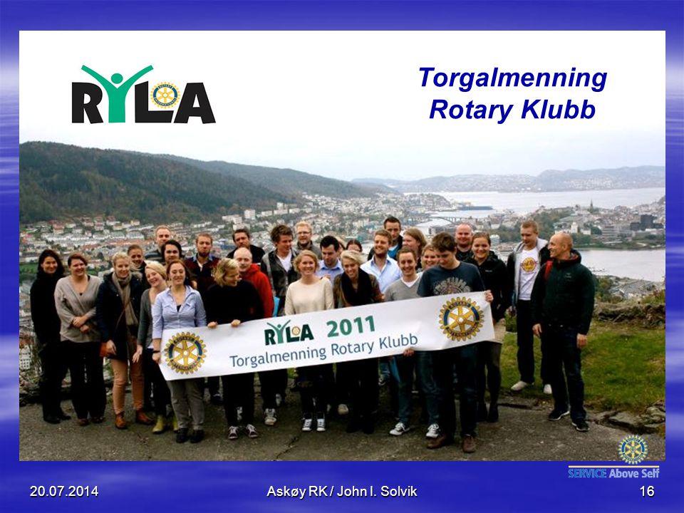 Torgalmenning Rotary Klubb 20.07.2014Askøy RK / John I. Solvik16