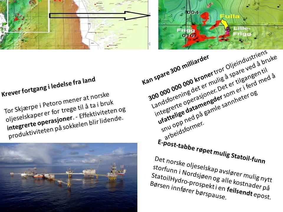 E-post-tabbe røpet mulig Statoil-funn Det norske oljeselskap avslører mulig nytt storfunn i Nordsjøen og alle kostnader på StatoilHydro-prospekt i en feilsendt epost.