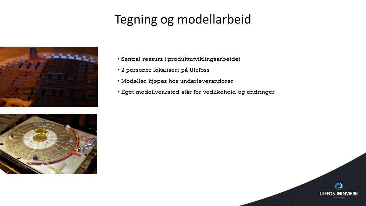 Tegning og modellarbeid Sentral ressurs i produktutviklingsarbeidet 2 personer lokalisert på Ulefoss Modeller kjøpes hos underleverandører Eget modell