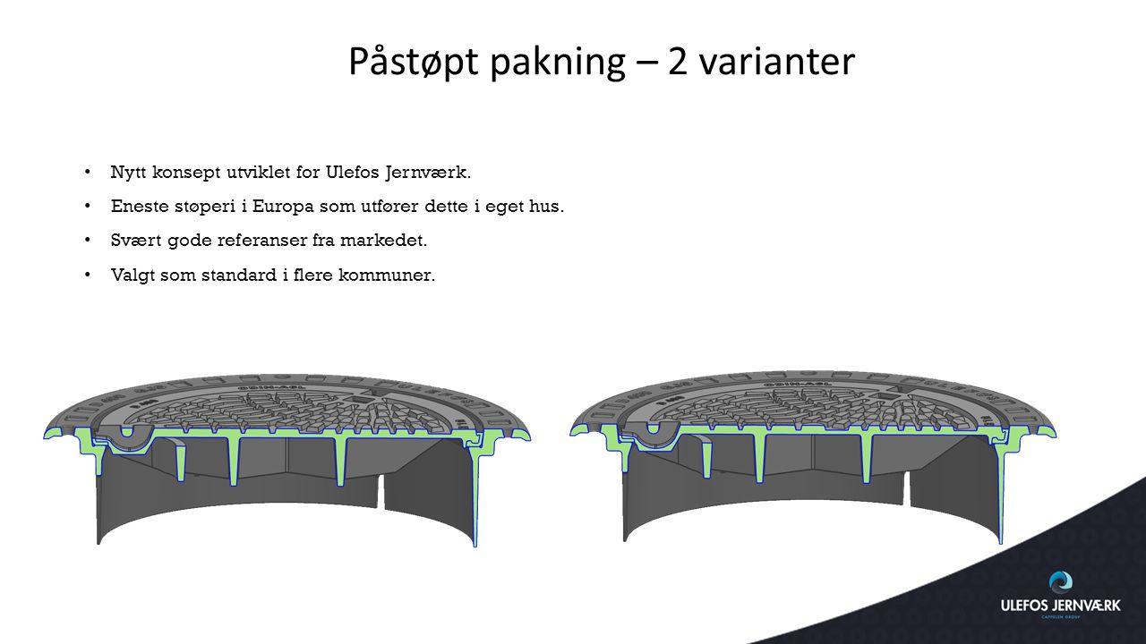Nytt konsept utviklet for Ulefos Jernværk. Eneste støperi i Europa som utfører dette i eget hus. Svært gode referanser fra markedet. Valgt som standar