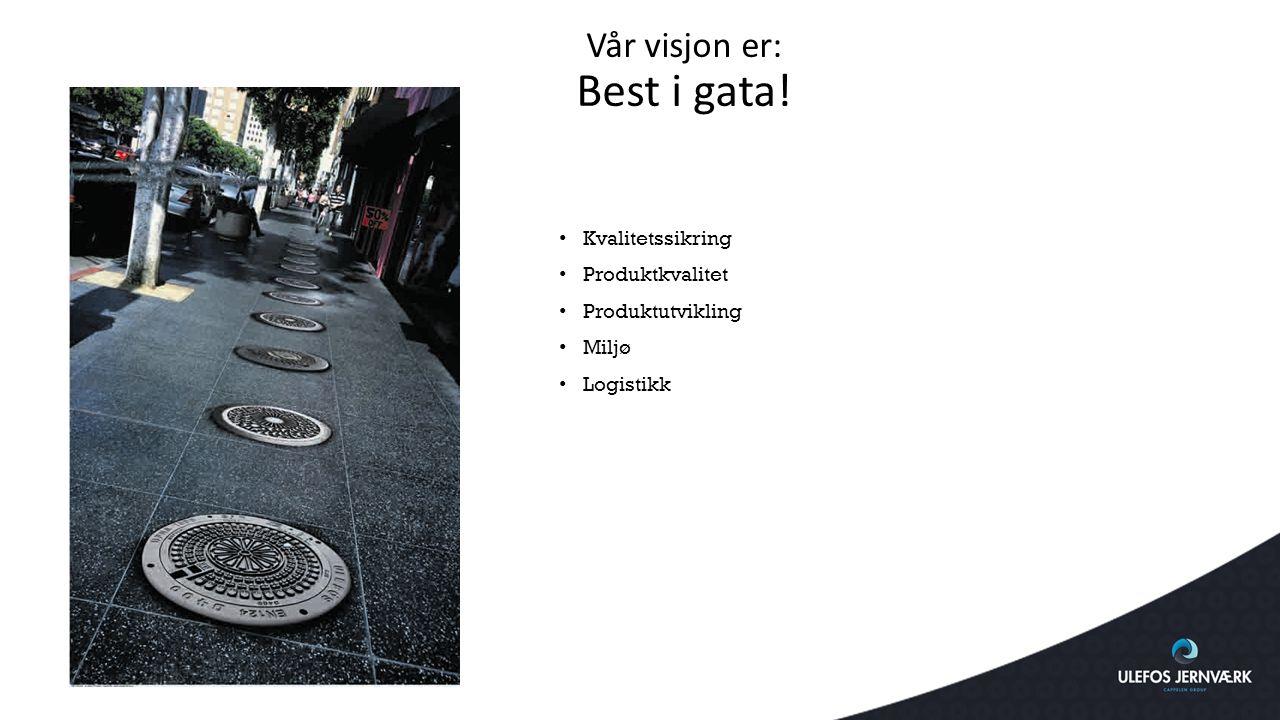 Vår visjon er: Best i gata! Kvalitetssikring Produktkvalitet Produktutvikling Miljø Logistikk