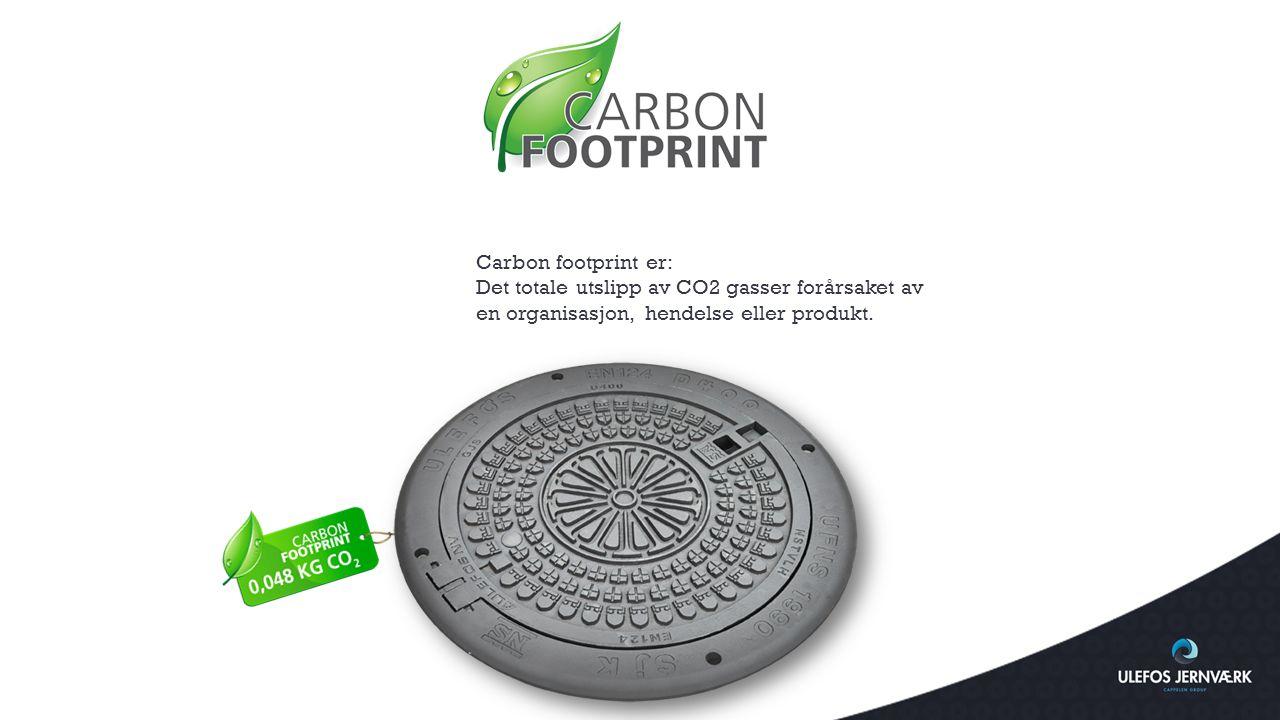 Carbon footprint er: Det totale utslipp av CO2 gasser forårsaket av en organisasjon, hendelse eller produkt.